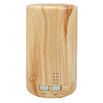 Electric Aromatherapy Diffuser - Cylinder Wood Grain Finish
