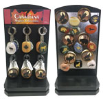 Canadiana Keychain and Magnet Display - Assorted (72/display)