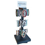 Spinning Pole Display - Gemstone Bracelets (3 style pre-pack) (65/Display)