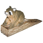 Hand Carved Wood Door Stop - Raccoon