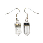 Earrings - Clear Quartz Faceted Point
