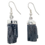Mineral Rough Point Earrings - Black Tourmaline Rough