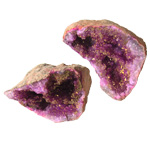 Cracked Coloured Geodes - Pink / Gold
