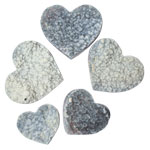 Polished Edge Heart - Agate Druze (Medium / Large)