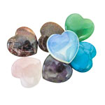 Mini Hearts - Assorted 25 mm (12)