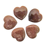Mini Hearts - Goldstone 25 mm (12)