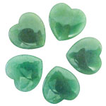 Mini Hearts - Green Aventurine 35 mm (12)