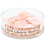 Mini Heart Display - Rose Quartz 35 mm (24/display)