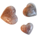 Specialty Puffy Heart - Red Hematoid Quartz