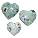 Specialty Puffy Heart - Ruby Fuchsite
