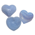Specialty Puffy Heart - Blue Lace Agate