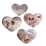 Specialty Puffy Heart - Rose Amethyst