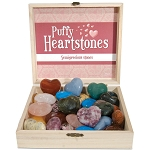 Puffy Heart Stone Display - Assorted (30/display)