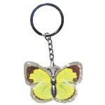 Insect Keychains - Yellow Butterfly