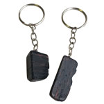 Mineral Keychains - Black Tourmaline with Iron Tumbled (12)