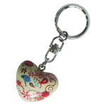 Harmony Heart Keychain - Cream / Pink - Flowers and Snail