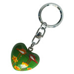 Harmony Heart Keychain - Green - Birds and Flowers (6)