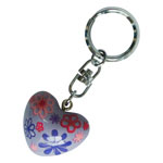 Harmony Heart Keychain - Light Purple - Pink and Purple Flowers (6)