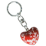 Harmony Heart Keychain - Red - White Vines (6)