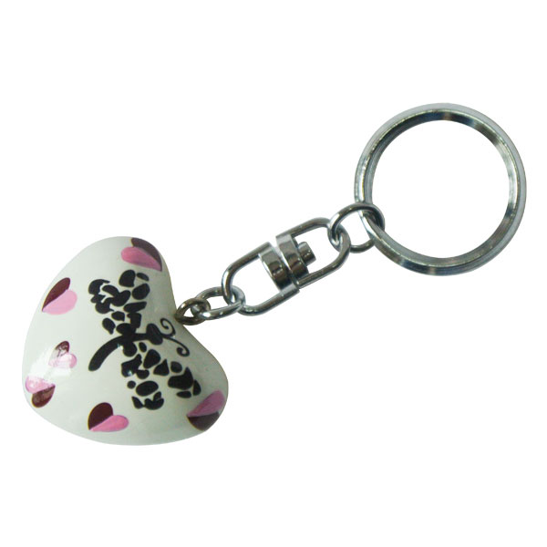 Harmony Heart Keychain - White - Hearts and Dragonfly (6)