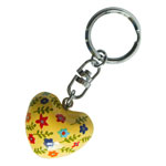 Harmony Heart Keychain - Yellow - Multicolour Flowers (6)