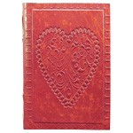 Zenature Leather Journal - Heart (4 x 5 inch)