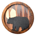 Wood Silhouette Magnets - Bear (3)