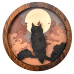 Wood Silhouette Magnets - Owl (3)