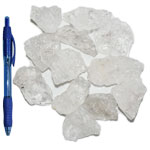 Mineral and Fossil Treasures - Quartz Rough Chunks (Size 3) (12 pcs)