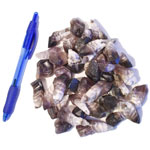 Mineral and Fossil Treasures - Amethyst Chevron Points (Size 0) (40 pcs)