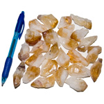 Bin Sized - Citrine Points Rough (Size 1) (25 pcs)