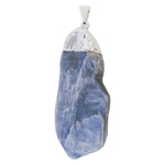 Rough Blue Kyanite Electroplated Pendant