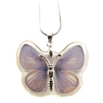 Butterfly Insect Pendant - Purple
