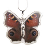 Butterfly Insect Pendant - Red