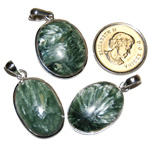 Seraphinite Cabochon Pendants (Large)