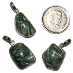 Seraphinite Cabochon Pendants (Medium)