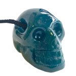 Drilled Skull Pendant - Bloodstone
