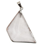 Geometric Faceted Pendant - Clear Quartz