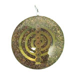 Orgone Generator Pendant - Copper Flakes with Spiral and Chakra Symbols
