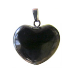 Gemstone Heart Pendant - Shungite