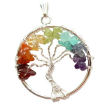 Chakra Pendant - Tree of Life on Wire