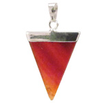 Gemstone Triangle Pendant - Carnelian - SALE 15% OFF