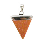 Gemstone Triangle Pendant - Goldstone - SALE 15% OFF
