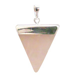 Gemstone Triangle Pendant - Rose Quartz