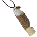 Hand Carved Wood Whistle Pendant - Eagle (2)