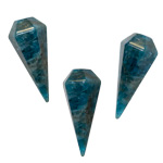 Faceted Pendulum - Blue Apatite