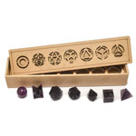 Platonic Solids 7 Piece Set (Sacred Geometry) - Amethyst