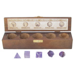 Platonic Solids 5 Piece Set (Sacred Geometry) - Amethyst