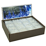 Boxed Crystals Display - Quartz Clusters (48/display)