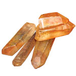 Crystal Request - Tangerine Quartz Points Rough